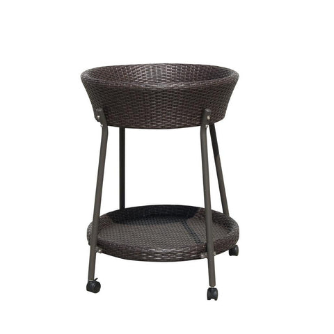 Sunny Designs Avalon Round Cart In Woven