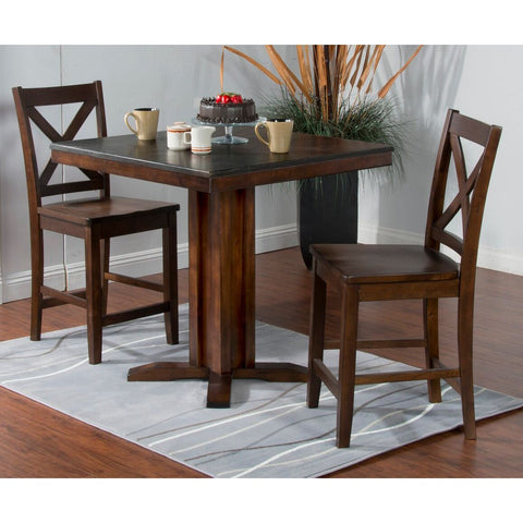 Sunny Designs Blue Moon Pub Table with Bluestone Top Dark Chocolate