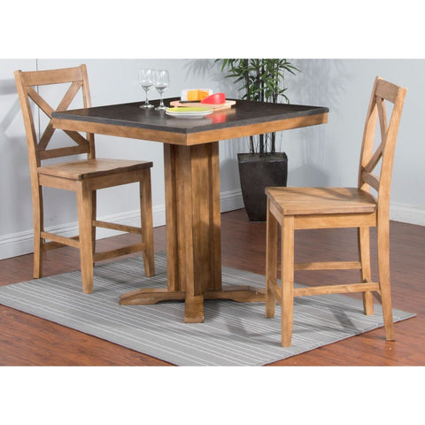 Sunny Designs Blue Moon Pub Table with Bluestone Top Desert Sand