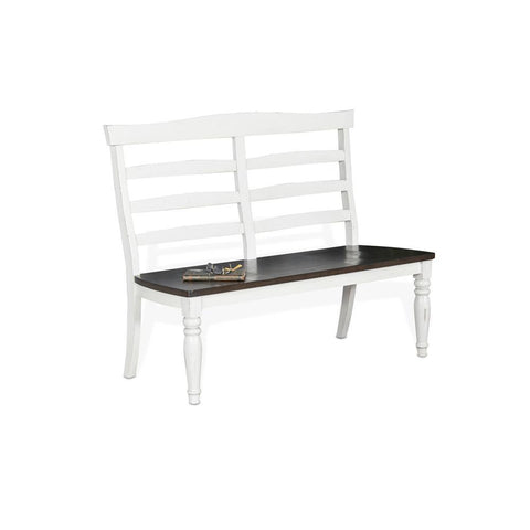 Sunny Designs Bourbon County Ladderback Bench in French Country