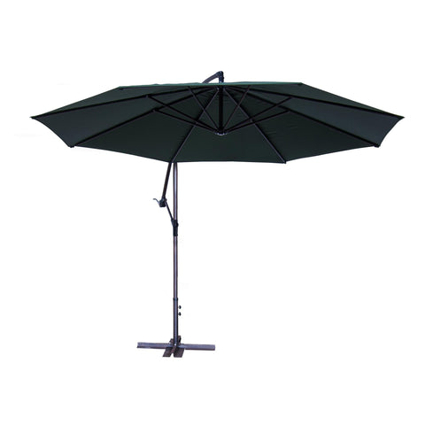 Sunny Designs Cantilever Umbrella with Base-Green In Forest