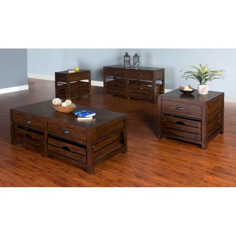 Sunny Designs Canyon Creek 4 Piece Coffee Table Set in Kings Wood