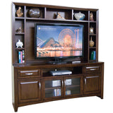Sunny Designs Cappuccino Collection Two Piece Entertainment Wall In Cappuccino