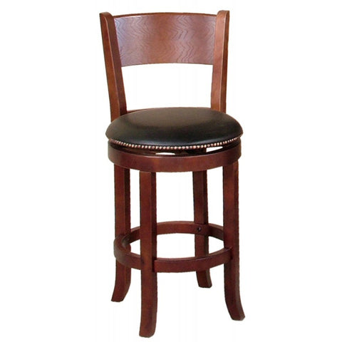 Sunny Designs Cappuccino Swivel Barstool with Back In Cappuccino