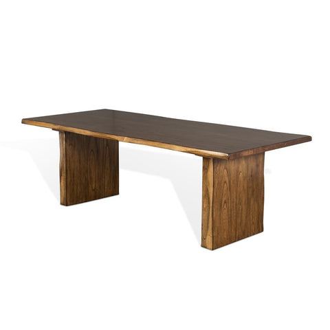 Sunny Designs Carey Live Edge Dining Table in Nature Walk