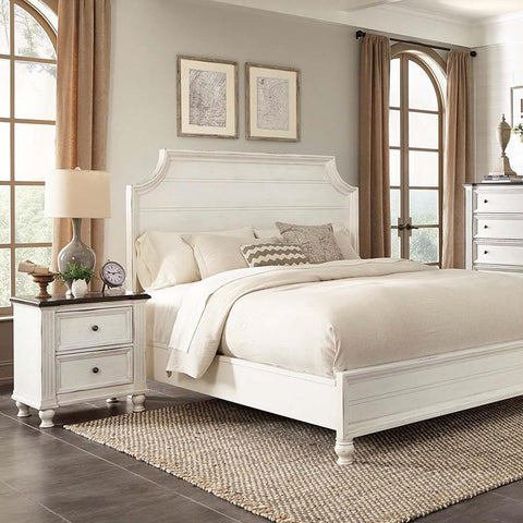 Sunny Designs Carriage House 2 Piece Platform Bedroom Set in Creme