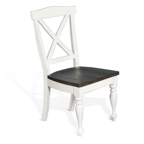 Sunny Designs Carriage House X-Back Chair in European Cottage