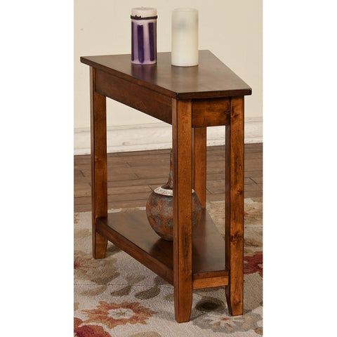 Sunny Designs Chair Side Table In Rustic Birch