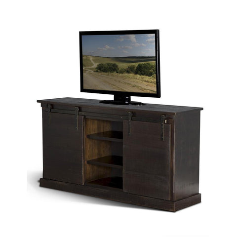 Sunny Designs Charred Oak 65 Inch TV Console