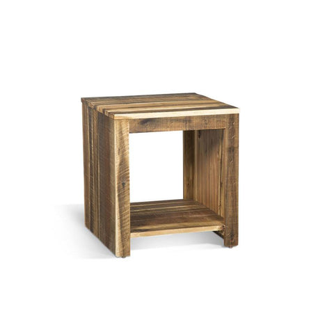 Sunny Designs Coleton End Table in Antique Natural