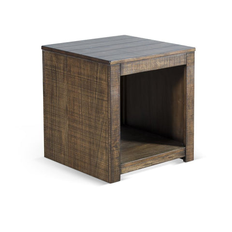 Sunny Designs Coleton End Table in Tobacco Leaf
