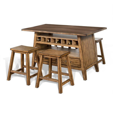Sunny Designs Cornerstone Table in Burnished Mocha