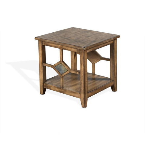 Sunny Designs Coventry End Table in Burnish Mocha