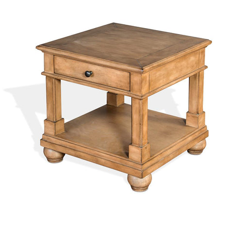 Sunny Designs Dockside End Table in Desert Sand