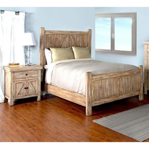Sunny Designs Durango 2 Piece Panel Bedroom Set in Weathered Brown