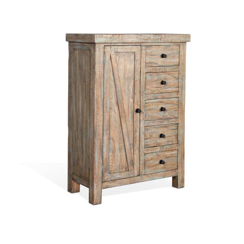 Sunny Designs Durango Door Chest in Weathered Brown