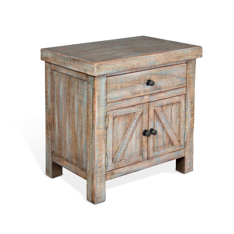 Sunny Designs Durango Nightstand in Weathered Brown