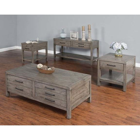 Sunny Designs Glasgow 4 Piece Coffee Table Set in Cadet Gray