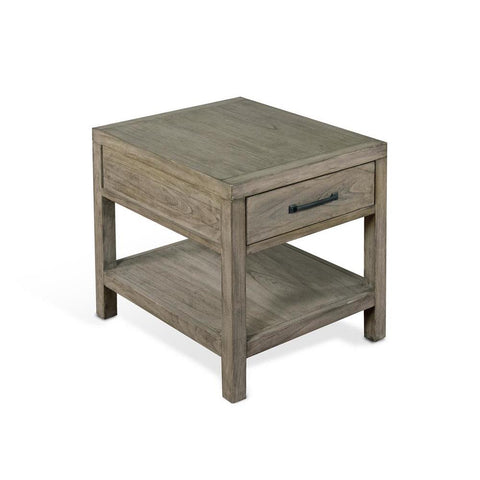 Sunny Designs Glasgow End Table in Cadet Gray