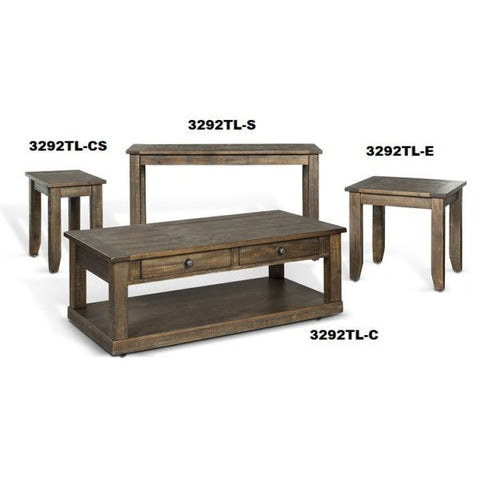 Sunny Designs Homestead 4 Piece Coffee Table Set in Tobacco Leaf