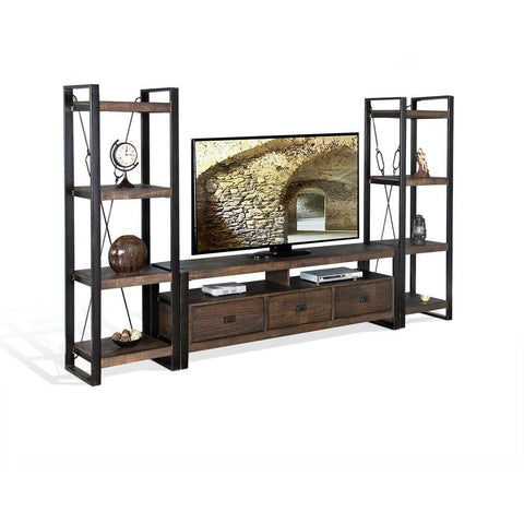 Sunny Designs Homestead 78 Inch TV Console in Tobacco Leaf