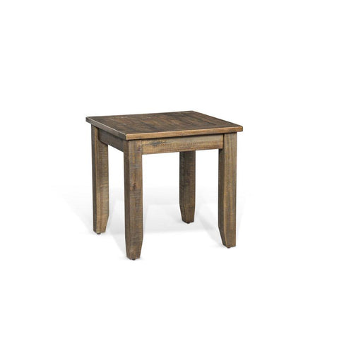 Sunny Designs Homestead End Table in Tobacco Leaf