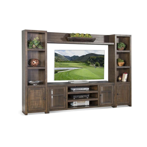 Sunny Designs Homestead Entertainment Wall in Tobacco Leaf