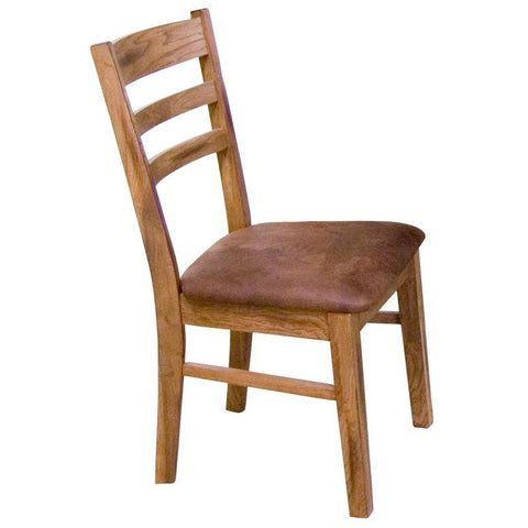 Sunny Designs Ladder-back Chair with Cushion Seat In Rustic Oak