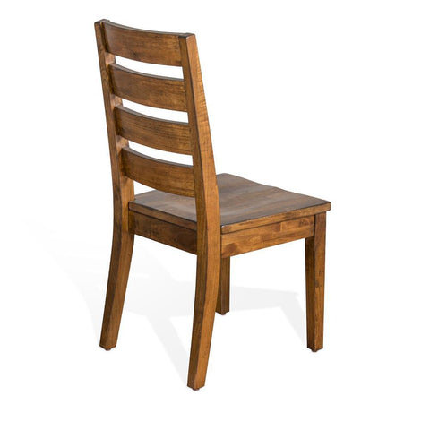 Sunny Designs Live Edge Ladderback Chair in Natural Mindi