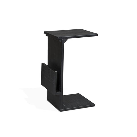Sunny Designs Manor House Chairside Table in Batman Black