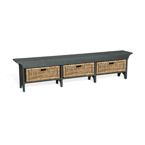 Sunny Designs Manor House Long Bench in Little Boy Blue