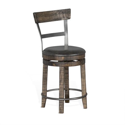 Sunny Designs Metroflex Counter Stool in Tobacco Leaf