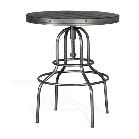 Sunny Designs Metroflex Kelsey Pub Table in Charred Oak