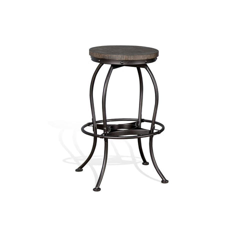 Sunny Designs Metroflex Vintage Metal Swivel Stool in Tobacco Leaf