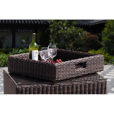 Sunny Designs Miami Serving Tray In Woven
