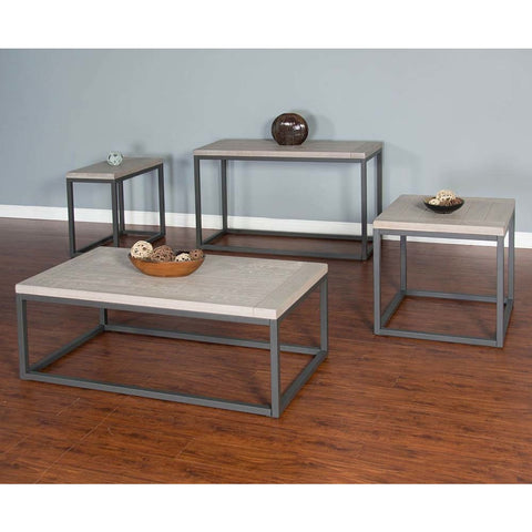 Sunny Designs Mt. Vernon 4 Piece Coffee Table Set in Urban Sunrise