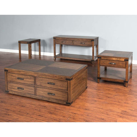 Sunny Designs Safari 4 Piece Coffee Table Set in Nature Walk