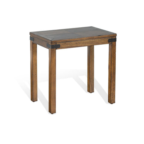 Sunny Designs Safari Chair Side Table in Nature Walk