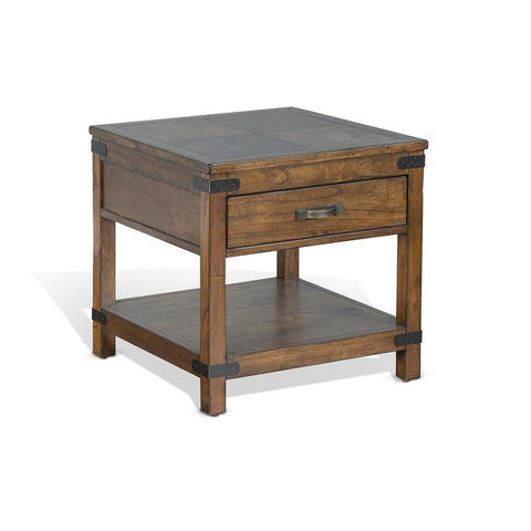 Sunny Designs Safari End Table in Nature Walk