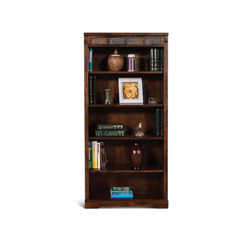 Sunny Designs Santa Fe 60 Inch Bookcase in Dark Chocolate
