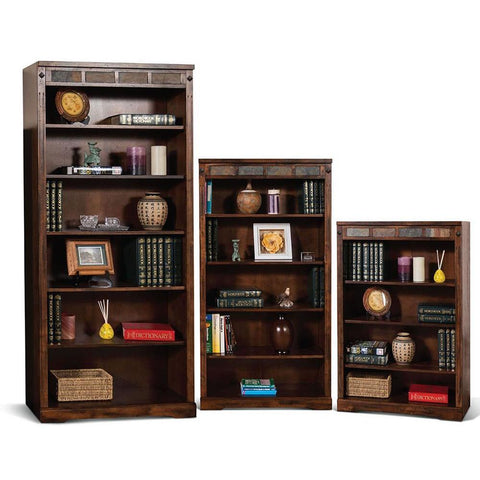 Sunny Designs Santa Fe 72 Inch Bookcase in Dark Chocolate