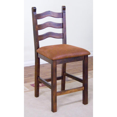 Sunny Designs Santa Fe Ladder-back Stool In Dark Chocolate