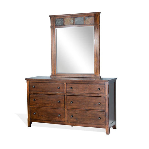 Sunny Designs Santa Fe Petite Dresser in Dark Chocolate