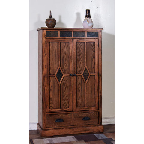 Sunny Designs Sedona 3 Shelves Pantry with 1 Drawer In Rustic Oak