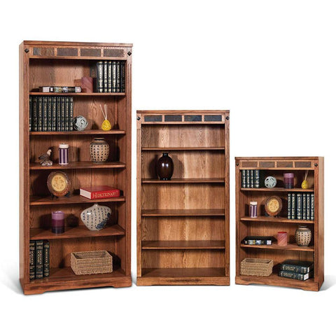 Sunny Designs Sedona 72 Inch Bookcase in Rustic Oak
