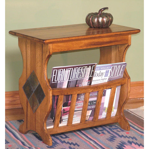 Sunny Designs Sedona Magazine Table In Rustic Oak