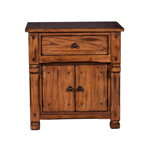 Sunny Designs Sedona Night Stand In Rustic Oak