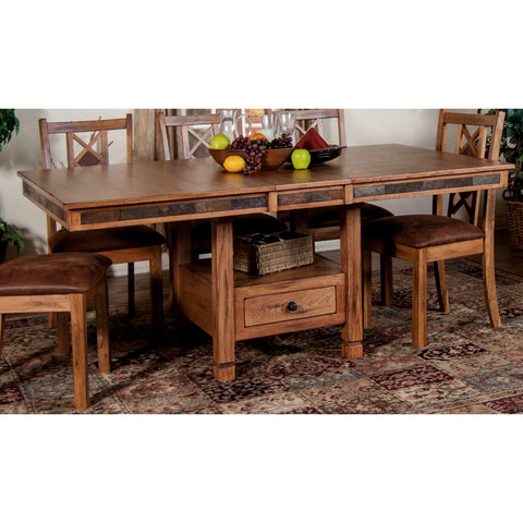 Sunny Designs Sedona Table In Rustic Oak