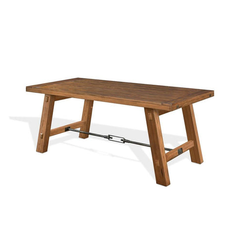Sunny Designs Sierra Dining Table in Dry Leaf