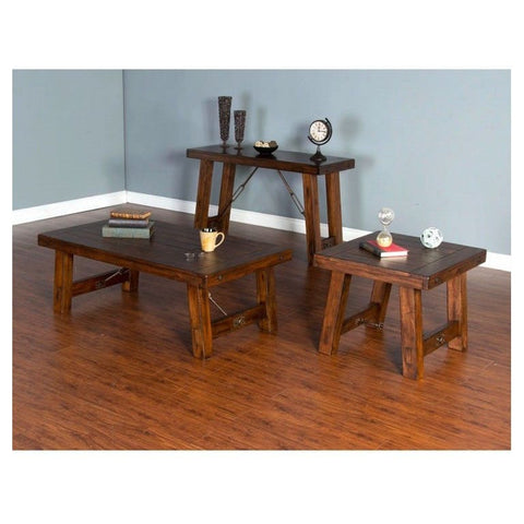 Sunny Designs Tuscany 3 Piece Coffee Table Set in Vintage Mocha
